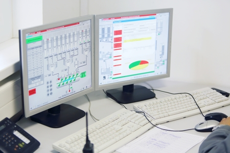 stock-photo-moscow-june-displays-in-control-center-at-factory-caparol-on-june-in-moscow-russia-132409328