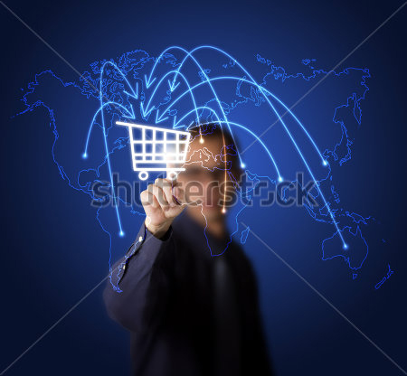 stock-photo-businessman-pressing-cart-button-on-world-map-symbol-of-modern-online-marketing-and-shopping-97221116